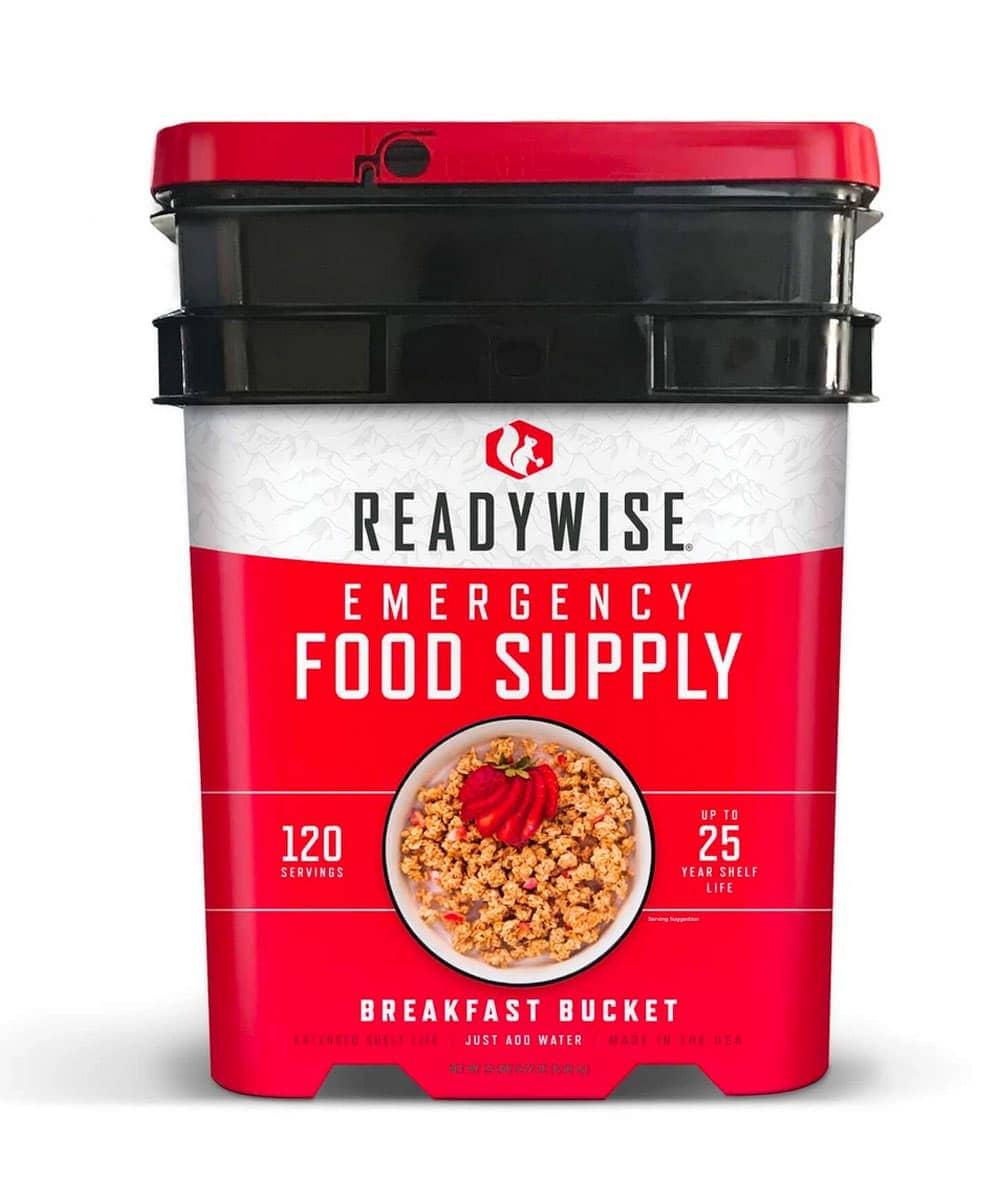 ReadyWise Food 120 Serving Breakfast Bucket