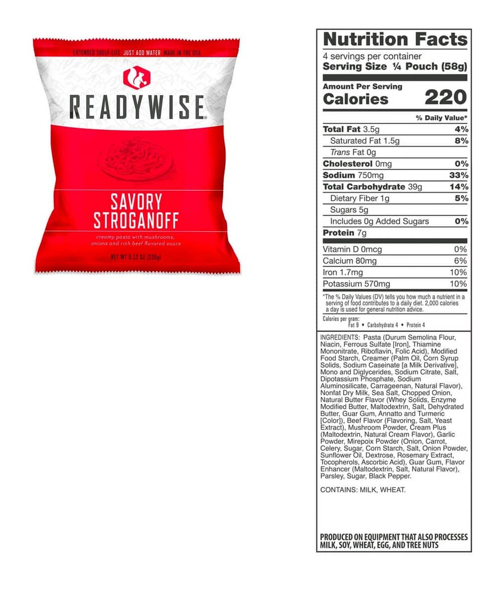 ReadyWise 240 Serving Mains and Breakfast Bucket