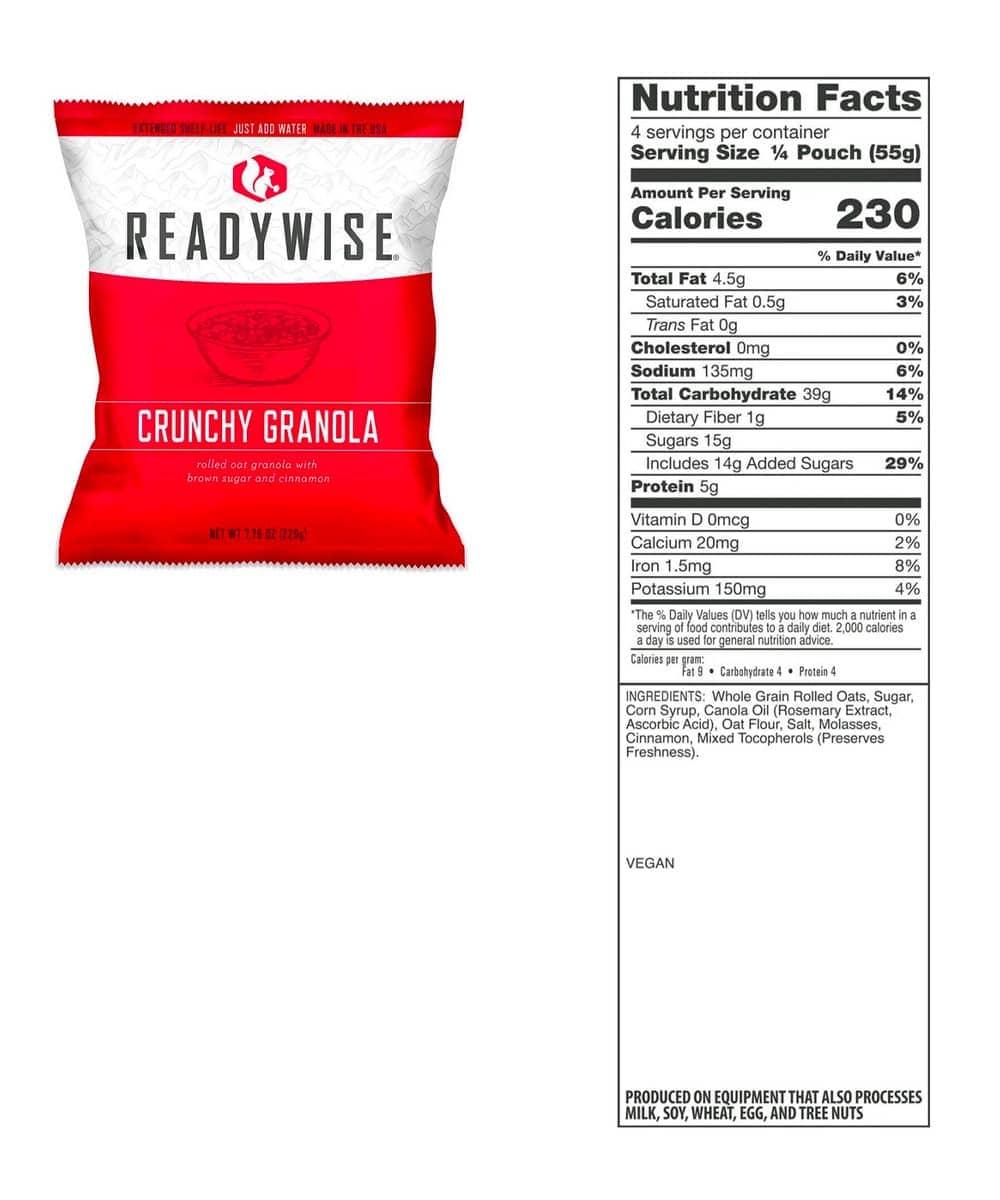 ReadyWise Emergency Food Supply Ready Grab Bag