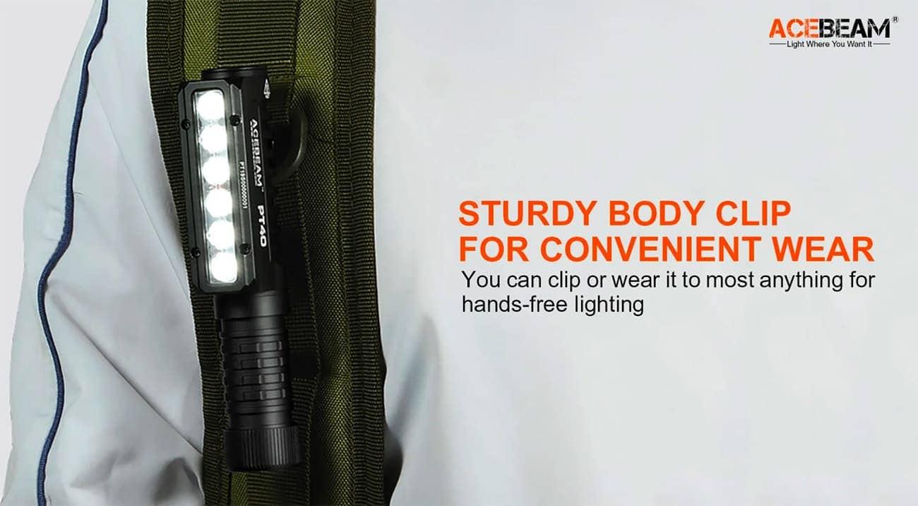 Acebeam PT40 Pocket Work Light Luminus SST-20 4000K