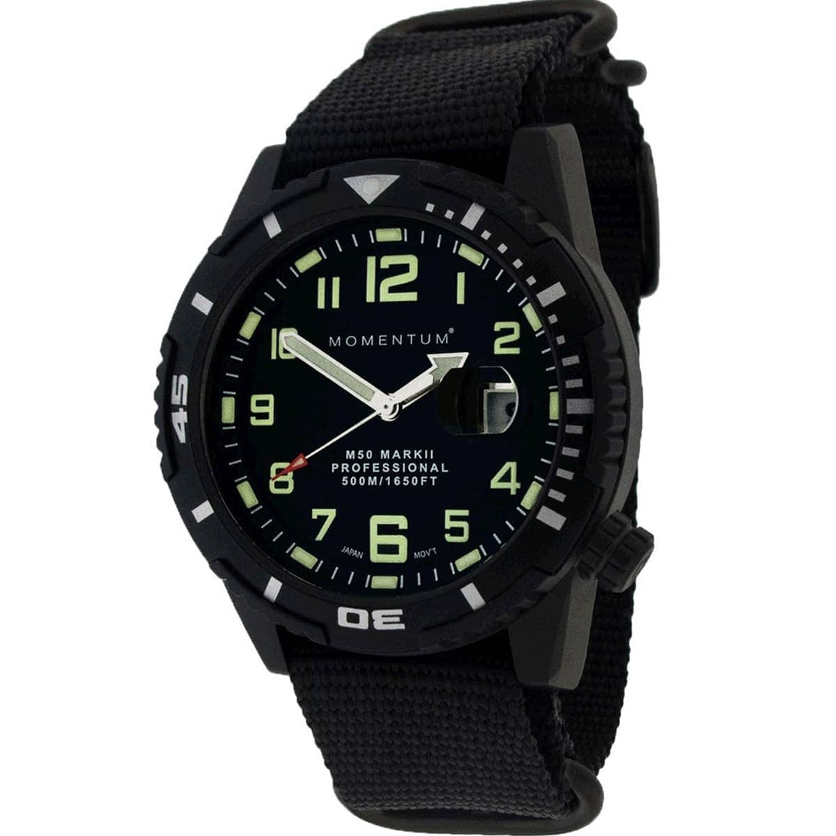 Momentum Watch M50 Mark II Black-Ion 44MM Web NATO