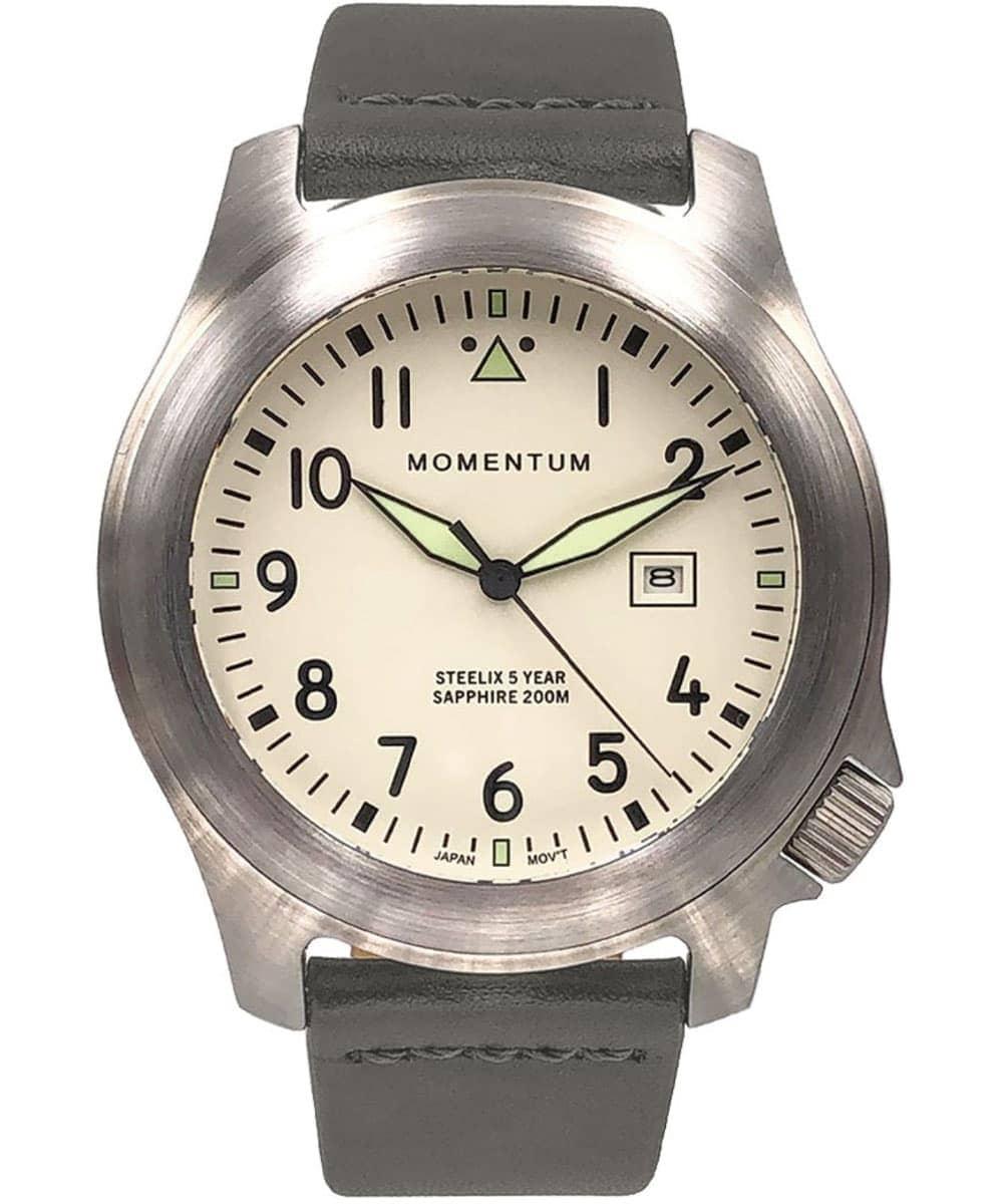 Momentum Watch Steelix Ivory SE 44MM, Bramante Leather