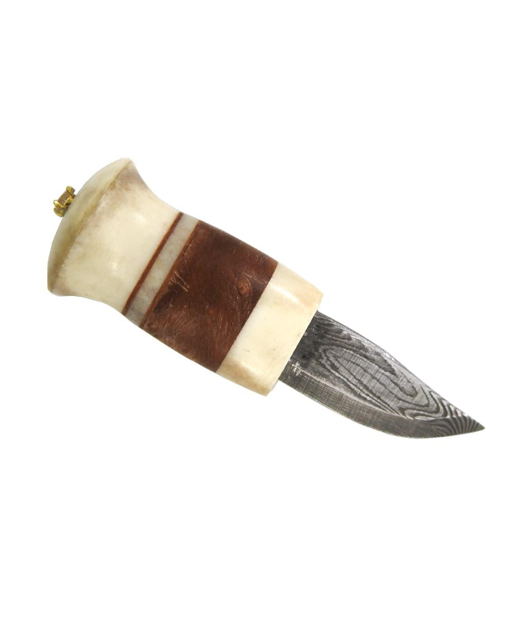 Karesuando Damascus Neck Knife