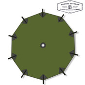Boonies Outdoor Parachute Shelter 4.5mtr Forest Green