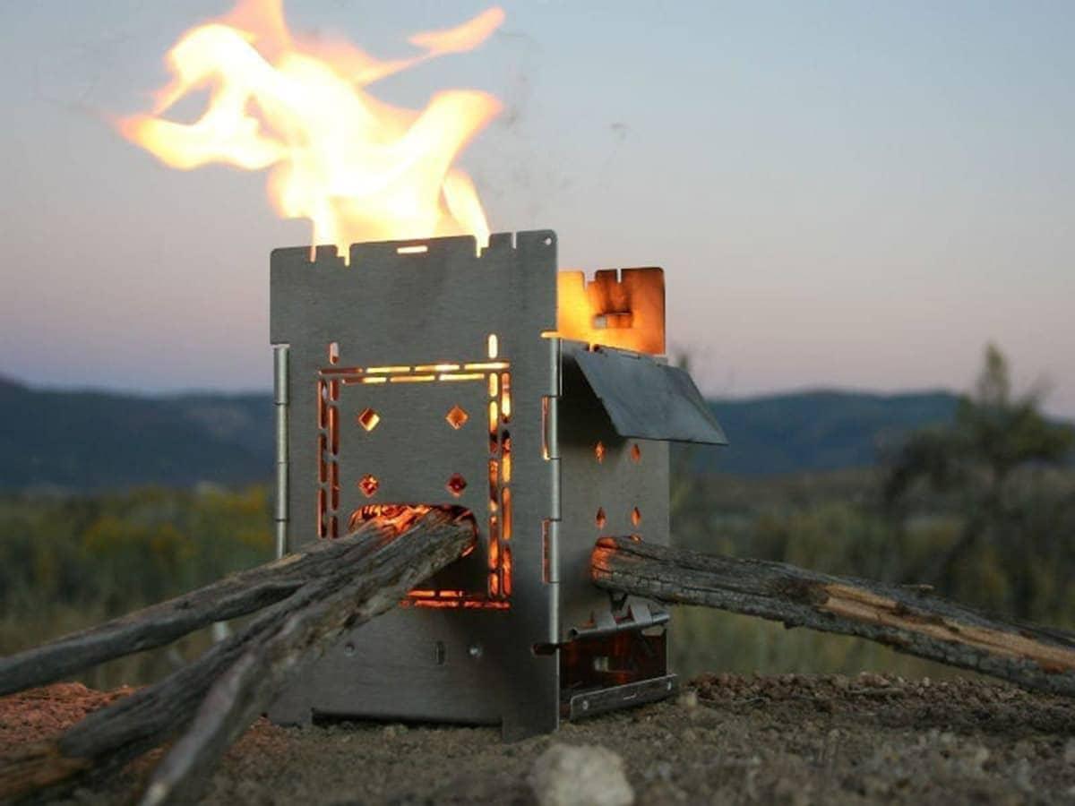 "Firebox G2 5"" Titanium Folding Stove"